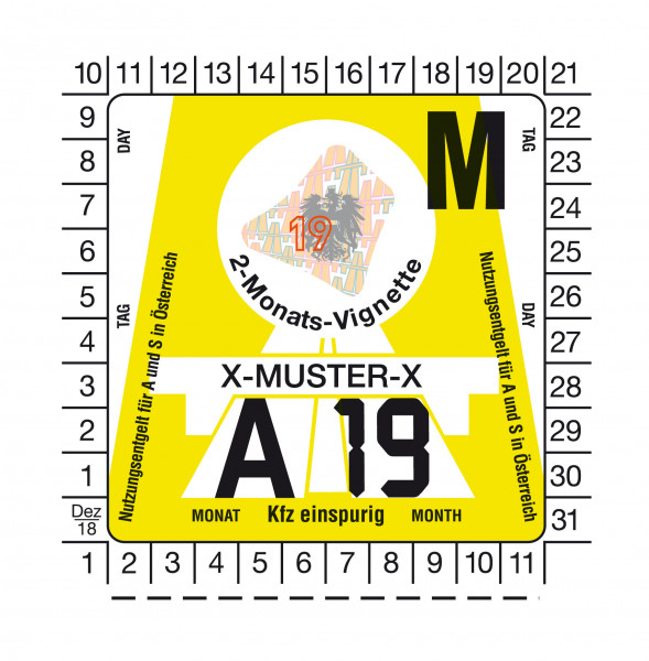 Motorrad 2-Monats-Vignette für Österreich