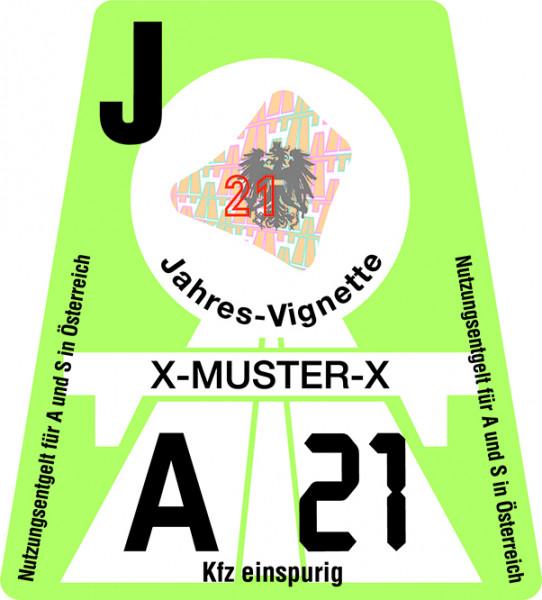 Motorrad Jahres-Vignette für Österreich 2021