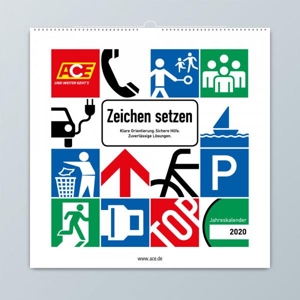 """ACE Motivkalender 2020 """"Zeichen setzen"""""""
