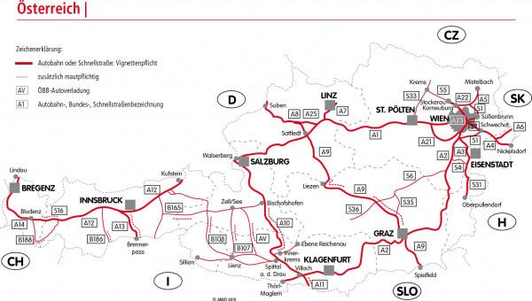 Digitale Streckenmaut Österreich