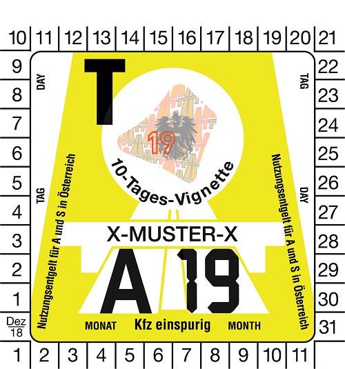 Motorrad 10-Tage-Vignette für Österreich