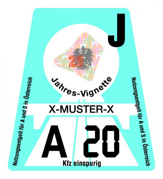 Motorrad Jahres-Vignette für Österreich 2020